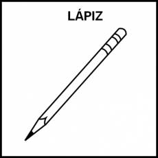 LÁPIZ - Pictograma (blanco y negro)