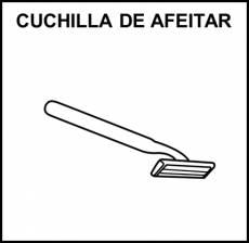 CUCHILLA DE AFEITAR - Pictograma (blanco y negro)