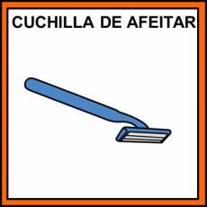 CUCHILLA DE AFEITAR - Pictograma (color)