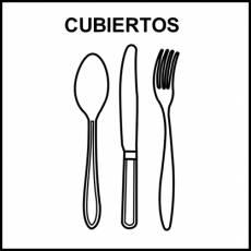 CUBIERTOS - Pictograma (blanco y negro)
