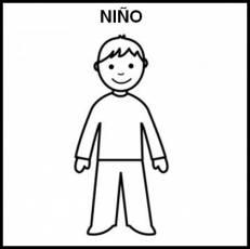NIÑO - Pictograma (blanco y negro)