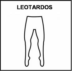 LEOTARDOS - Pictograma (blanco y negro)