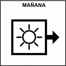 MAÑANA - Pictograma (blanco y negro)