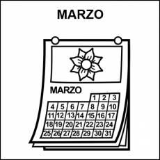 MARZO - Pictograma (blanco y negro)