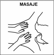 MASAJE - Pictograma (blanco y negro)