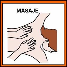 MASAJE - Pictograma (color)