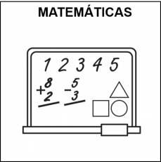MATEMÁTICAS - Pictograma (blanco y negro)