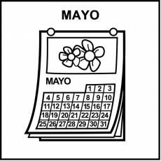 MAYO - Pictograma (blanco y negro)