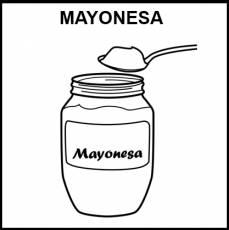 MAYONESA - Pictograma (blanco y negro)