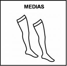 MEDIAS - Pictograma (blanco y negro)