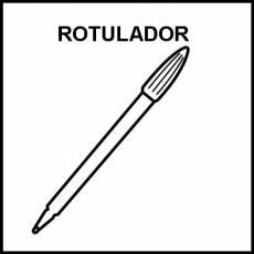 ROTULADOR - Pictograma (blanco y negro)