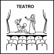 TEATRO - Pictograma (blanco y negro)