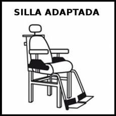 SILLA ADAPTADA - Pictograma (blanco y negro)