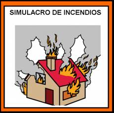 SIMULACRO DE INCENDIOS - Pictograma (color)