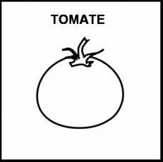 TOMATE - Pictograma (blanco y negro)