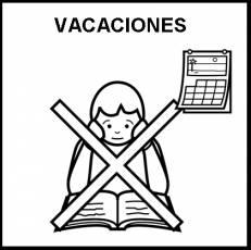 VACACIONES - Pictograma (blanco y negro)