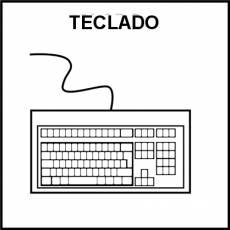 TECLADO - Pictograma (blanco y negro)
