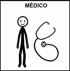 MÉDICO - Pictograma (blanco y negro)