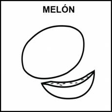 MELÓN - Pictograma (blanco y negro)