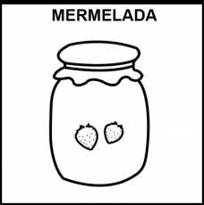 MERMELADA - Pictograma (blanco y negro)