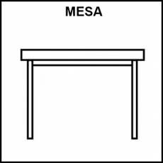 MESA - Pictograma (blanco y negro)