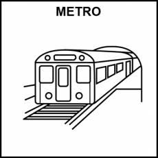 METRO (MEDIO DE TRANSPORTE) - Pictograma (blanco y negro)
