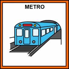 METRO (MEDIO DE TRANSPORTE) - Pictograma (color)