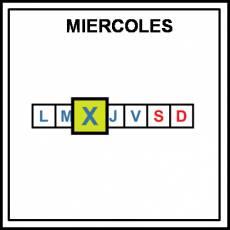 MIÉRCOLES - Pictograma (color)