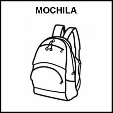 MOCHILA - Pictograma (blanco y negro)