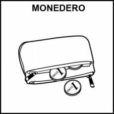 MONEDERO - Pictograma (blanco y negro)