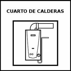 CUARTO DE CALDERAS - Pictograma (blanco y negro)
