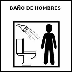 BAÑO DE HOMBRES - Pictograma (blanco y negro)