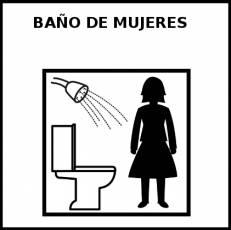 BAÑO DE MUJERES - Pictograma (blanco y negro)