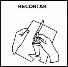 RECORTAR - Pictograma (blanco y negro)