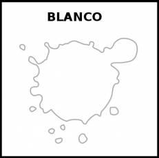 BLANCO (COLOR) - Pictograma (blanco y negro)