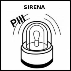 SIRENA (SONIDO DE AVISO) - Pictograma (blanco y negro)