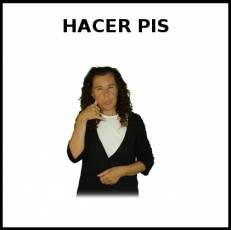 HACER PIS (NIÑO) - Signo