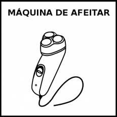 MÁQUINA DE AFEITAR - Pictograma (blanco y negro)