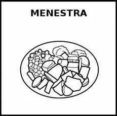 MENESTRA - Pictograma (blanco y negro)