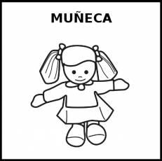 MUÑECA (JUGUETE) - Pictograma (blanco y negro)