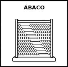 ÁBACO - Pictograma (blanco y negro)