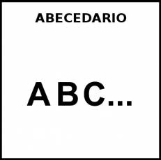 ABECEDARIO - Pictograma (blanco y negro)