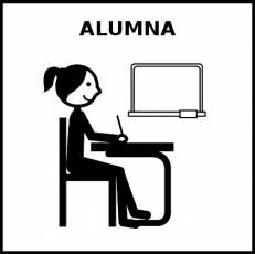 ALUMNA - Pictograma (blanco y negro)