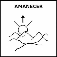 AMANECER - Pictograma (blanco y negro)