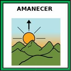 AMANECER - Pictograma (color)