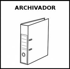ARCHIVADOR - Pictograma (blanco y negro)