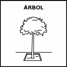 ÁRBOL - Pictograma (blanco y negro)