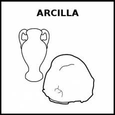 ARCILLA - Pictograma (blanco y negro)