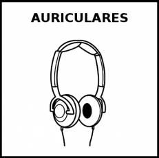 AURICULARES - Pictograma (blanco y negro)