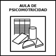 AULA DE PSICOMOTRICIDAD - Pictograma (blanco y negro)